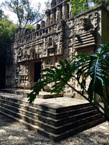Maya temple in the national museum of anthropology, Mexico City
