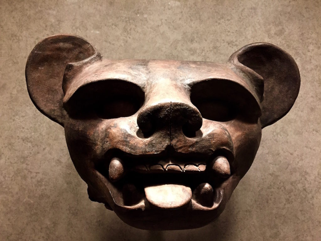 Jaguar head in the national museum of anthropology, Mexico City