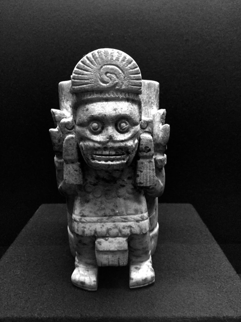 Aztec figure in the national museum of anthropology Mexico City