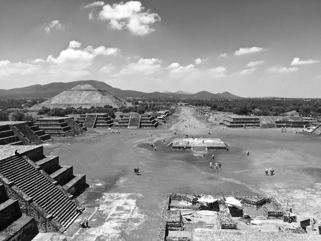View of the Avenue of the Dead and the Pyramid of the Sun from the Pyramid of the Moon, Teotihuacan