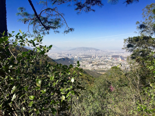 View over Monterrey from the mountains closeby