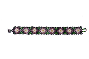 Mexican bracelet with waterlilies as seen from above