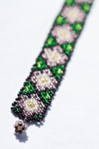 Waterlilies on a Mexican bracelet