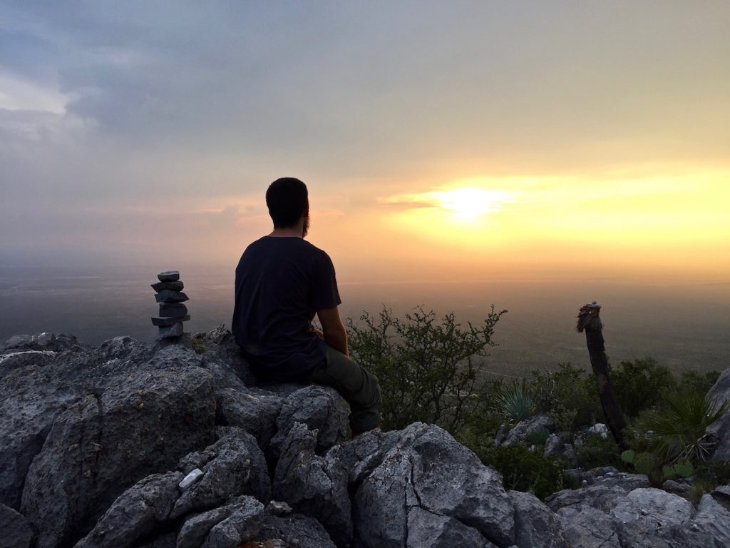 Watching that beautiful sunset from the top of a Mexican mountain